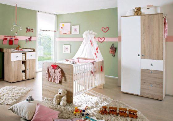 Babyzimmer WIKI 1 in Eiche Sonoma / Weiß