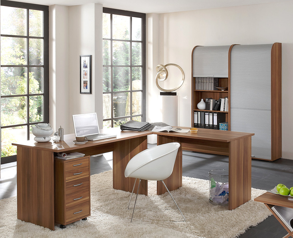 b ro office profi minioffice arbeitszimmer in zwetschgemoebel dich. Black Bedroom Furniture Sets. Home Design Ideas