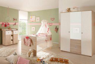 Babyzimmer WIKi 5 in Eiche Sonoma / Weiß