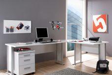 Winkelschreibtisch OFFICE LINE weiß