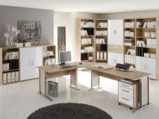Arbeitszimmer OFFICE LINE 220 Eiche Sonoma / Weiß glanz