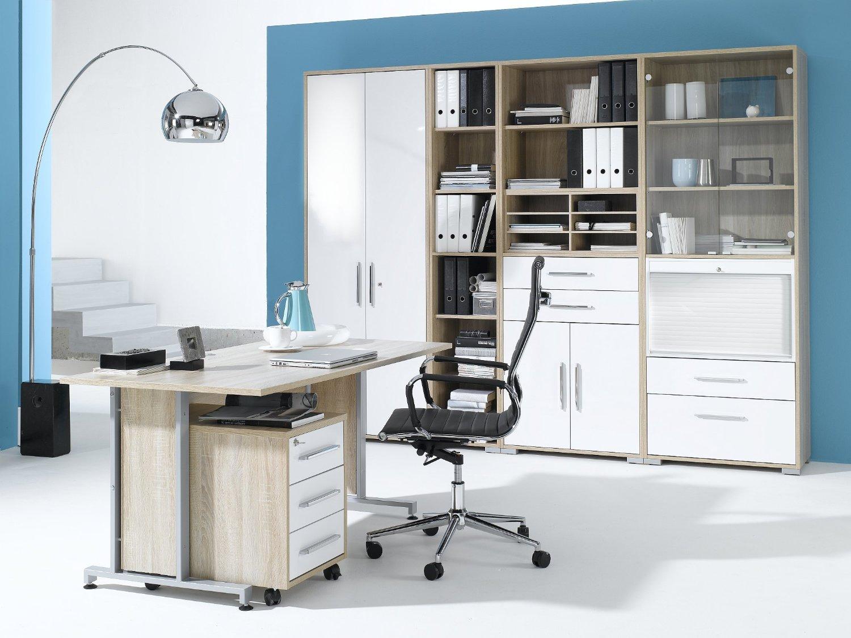 arbeitszimmer maja system in eiche sonoma grau hochglanzmoebel dich auf de