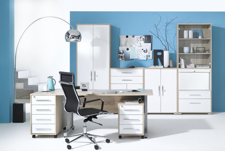 MAJA-Möbel 1202 2556 Büroprogramm SYSTEM, Sonoma-Eiche-Nachbildung ...