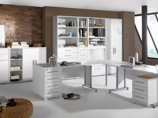 MAJA SYSTEM Büro MAJA Möbel SYSTEM 1208 icy-weiß / weiß hochglanz