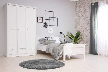 Schlafzimmer STOCKHOLM 3-tlg. in weiß (Set 1)