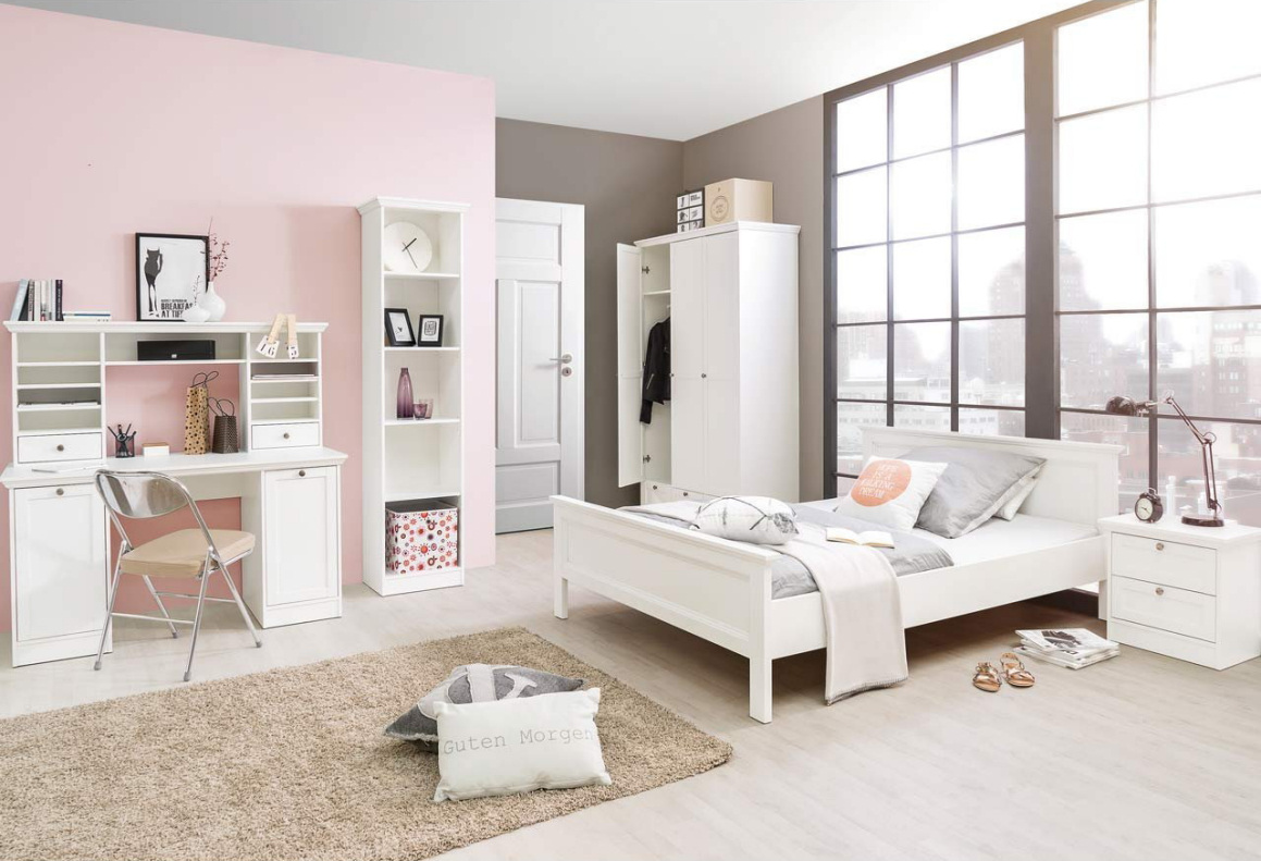 schlafzimmer jugendzimmer stockholm im landhausstil wei set 3 moebel dich. Black Bedroom Furniture Sets. Home Design Ideas