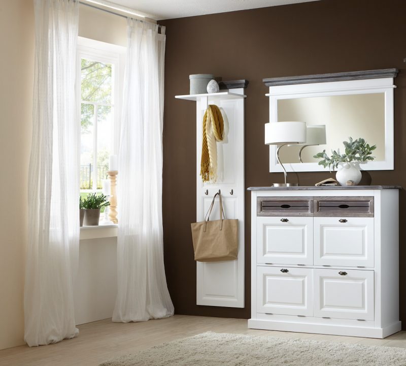 garderobe garderobenset cabana 2 im vintage look teilmassivmoebel dich. Black Bedroom Furniture Sets. Home Design Ideas
