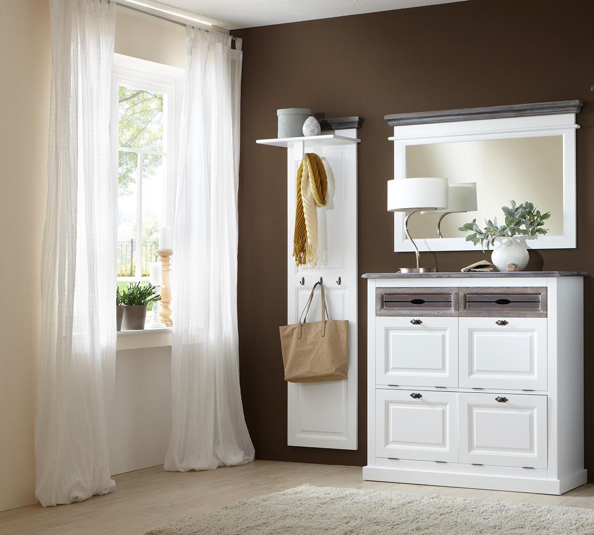 garderobe garderobenset cabana 2 im vintage look teilmassivmoebel dich. Black Bedroom Furniture Sets. Home Design Ideas