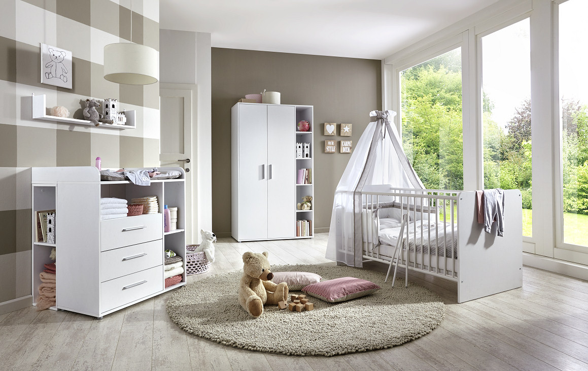 babyzimmer kinderzimmer kim 2 in wei. Black Bedroom Furniture Sets. Home Design Ideas