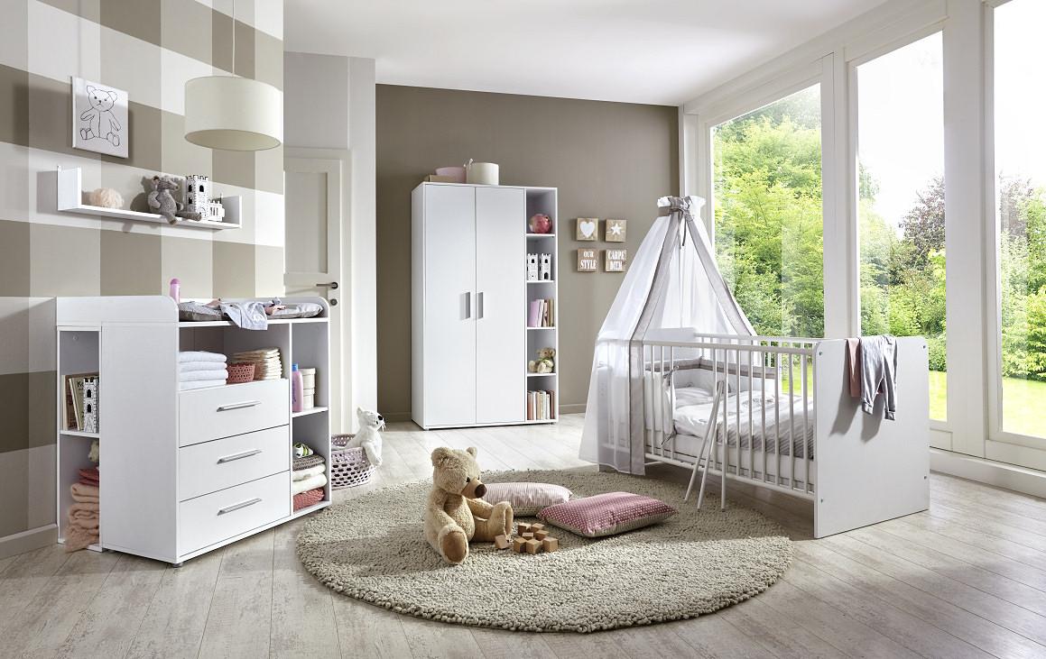 babyzimmer kinderzimmer kim 2 in wei moebel dich. Black Bedroom Furniture Sets. Home Design Ideas