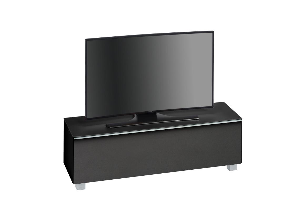 soundboard 7736 maja soundconcept in schwarzglas matt 140 cm breitmoebel dich auf de