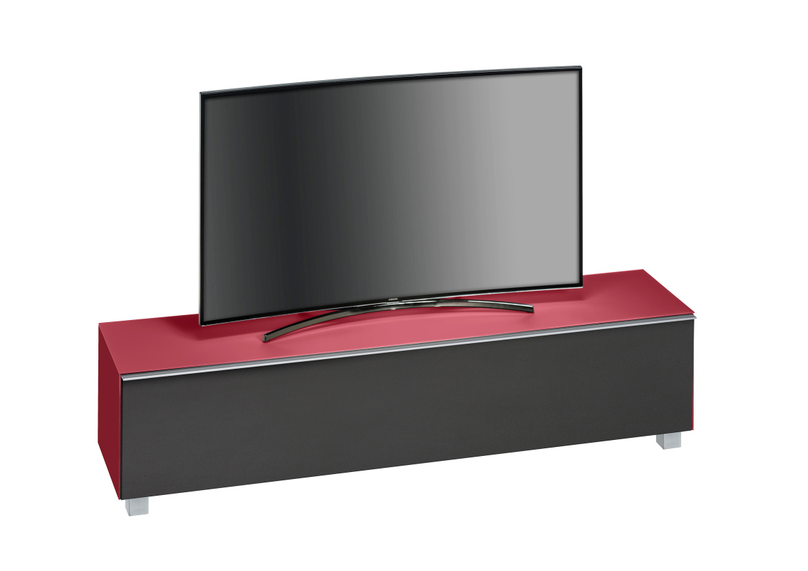 maja 7738 soundboard in glas himbeerrot matt soundconcept 180 cm breit. Black Bedroom Furniture Sets. Home Design Ideas