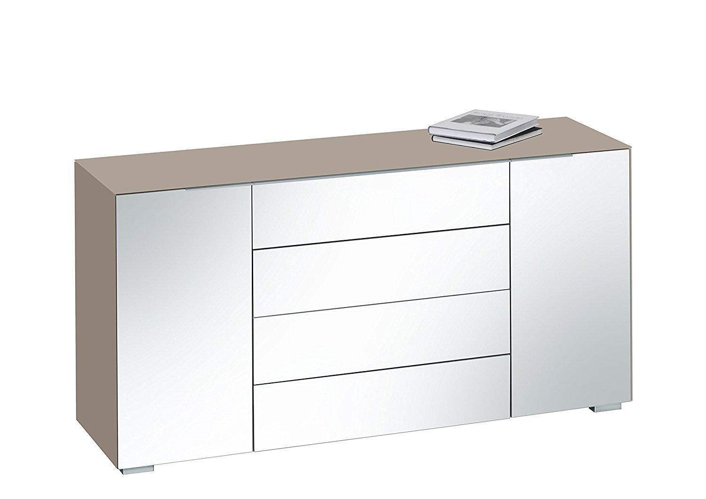 maja kommode best 7216 in glas sand matt grauspiegel. Black Bedroom Furniture Sets. Home Design Ideas