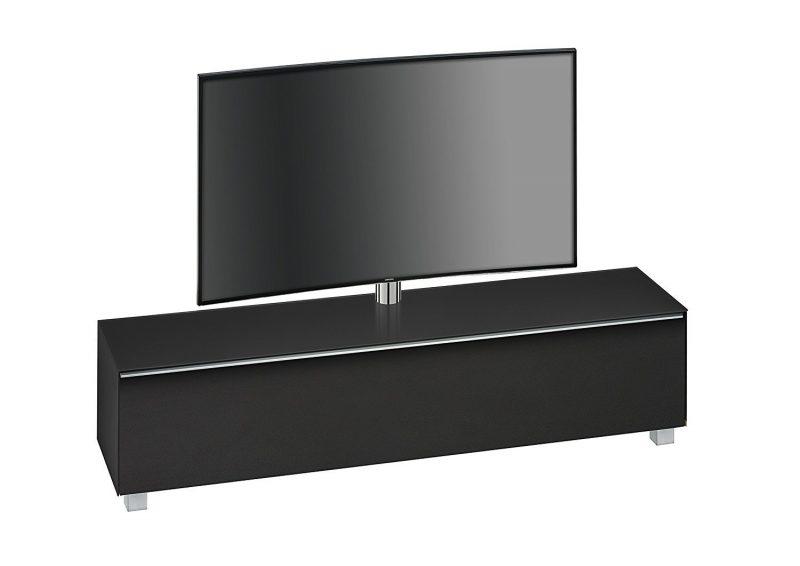 maja 7740 soundboard mit tv halterung in schwarzglas matt 180 cm breitmoebel dich. Black Bedroom Furniture Sets. Home Design Ideas