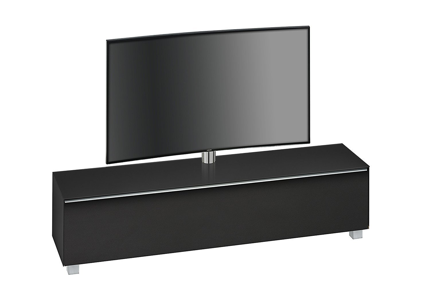 maja 7740 soundboard mit tv halterung in schwarzglas matt 180 cm breit. Black Bedroom Furniture Sets. Home Design Ideas