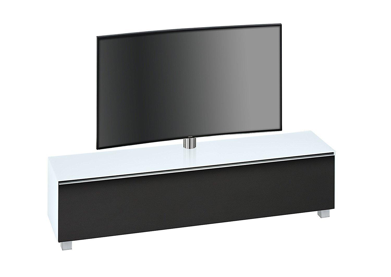 maja 7740 soundboard mit tv halterung in weissglass matt 180 cm breitmoebel dich. Black Bedroom Furniture Sets. Home Design Ideas