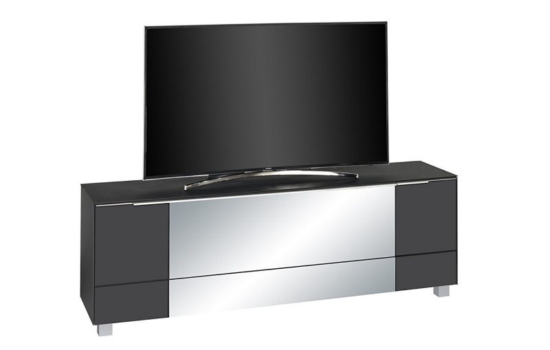 soundboard maja 7772 maja soundboard in schwarzglas matt grauspiegelmoebel dich. Black Bedroom Furniture Sets. Home Design Ideas
