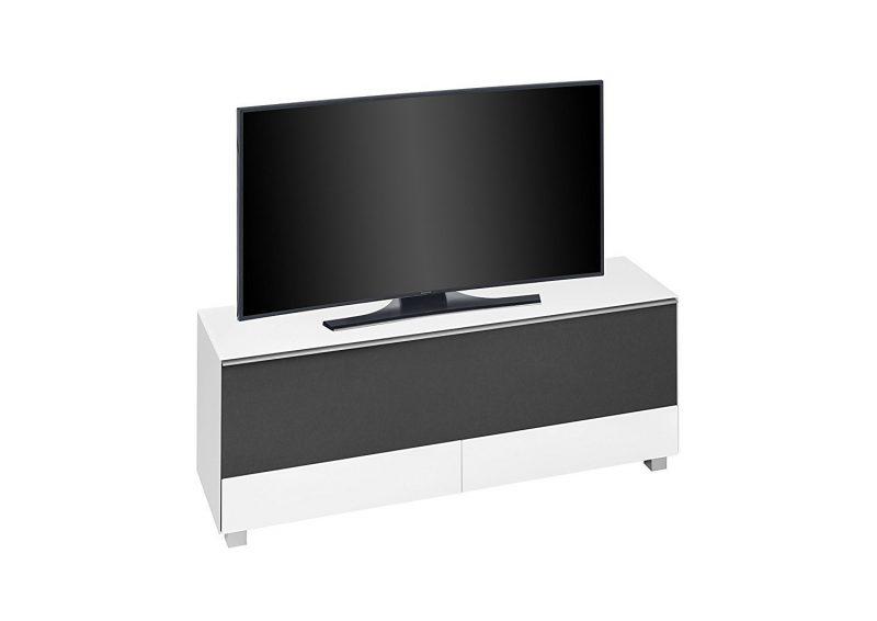 maja 7774 soundboard in wei glas matt akustikstoff schwarz 160 cm breit soundconceptmoebel. Black Bedroom Furniture Sets. Home Design Ideas