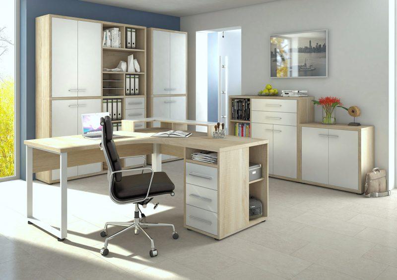 arbeitszimmer b rom bel b ro maja m bel set set plus set 2. Black Bedroom Furniture Sets. Home Design Ideas