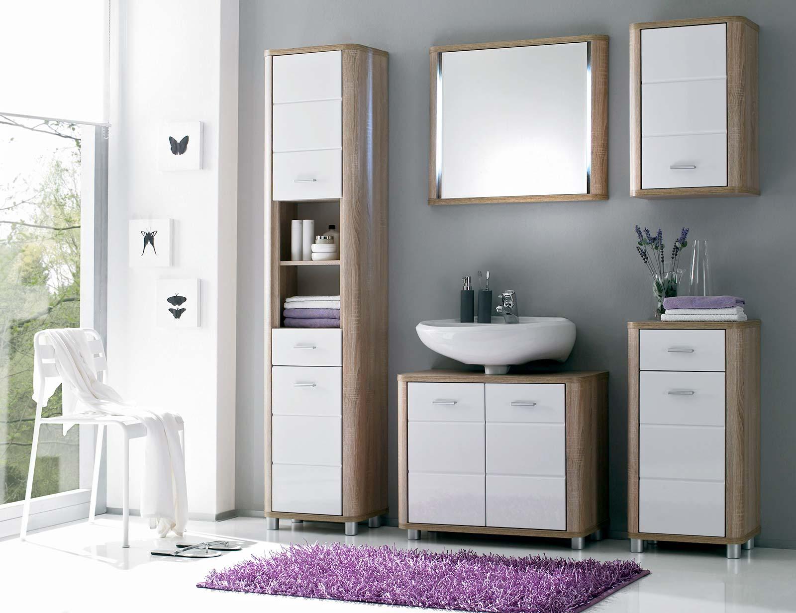 badm belset vital in eiche sonoma glanz wei moebel dich. Black Bedroom Furniture Sets. Home Design Ideas