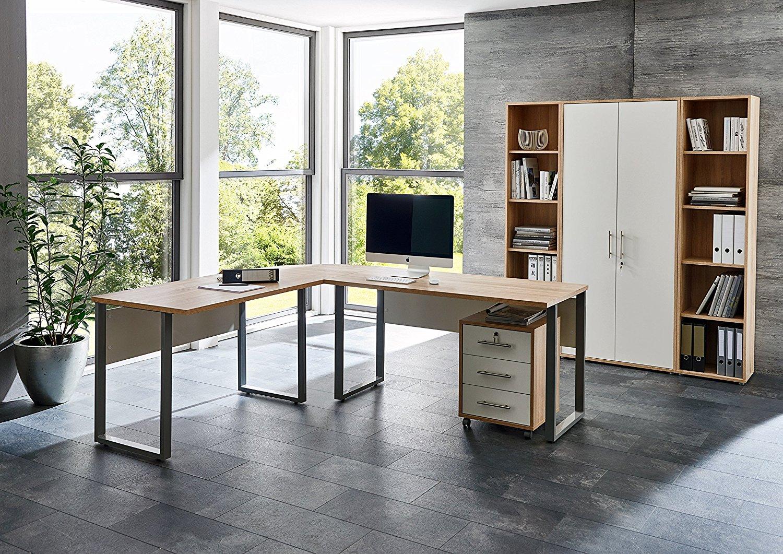 Arbeitszimmer OFFICE EDITION 3 in Eiche Sonoma / Weiß