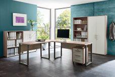 Arbeitszimmer OFFICE EDITION in Sandeiche / Weiß (Set 1)