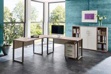 Arbeitszimmer OFFICE EDITION in Sandeiche / Weiß (Set 2)