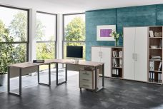 Arbeitszimmer OFFICE EDITION in Sandeiche / Weiß (Set 4)
