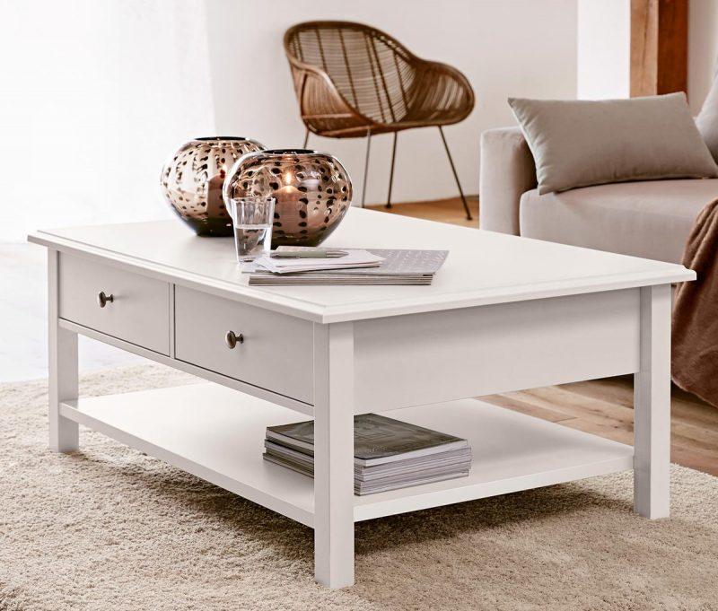 wohnzimmertisch tisch couchtisch kopenhagen im landhausstil wei moebel dich. Black Bedroom Furniture Sets. Home Design Ideas