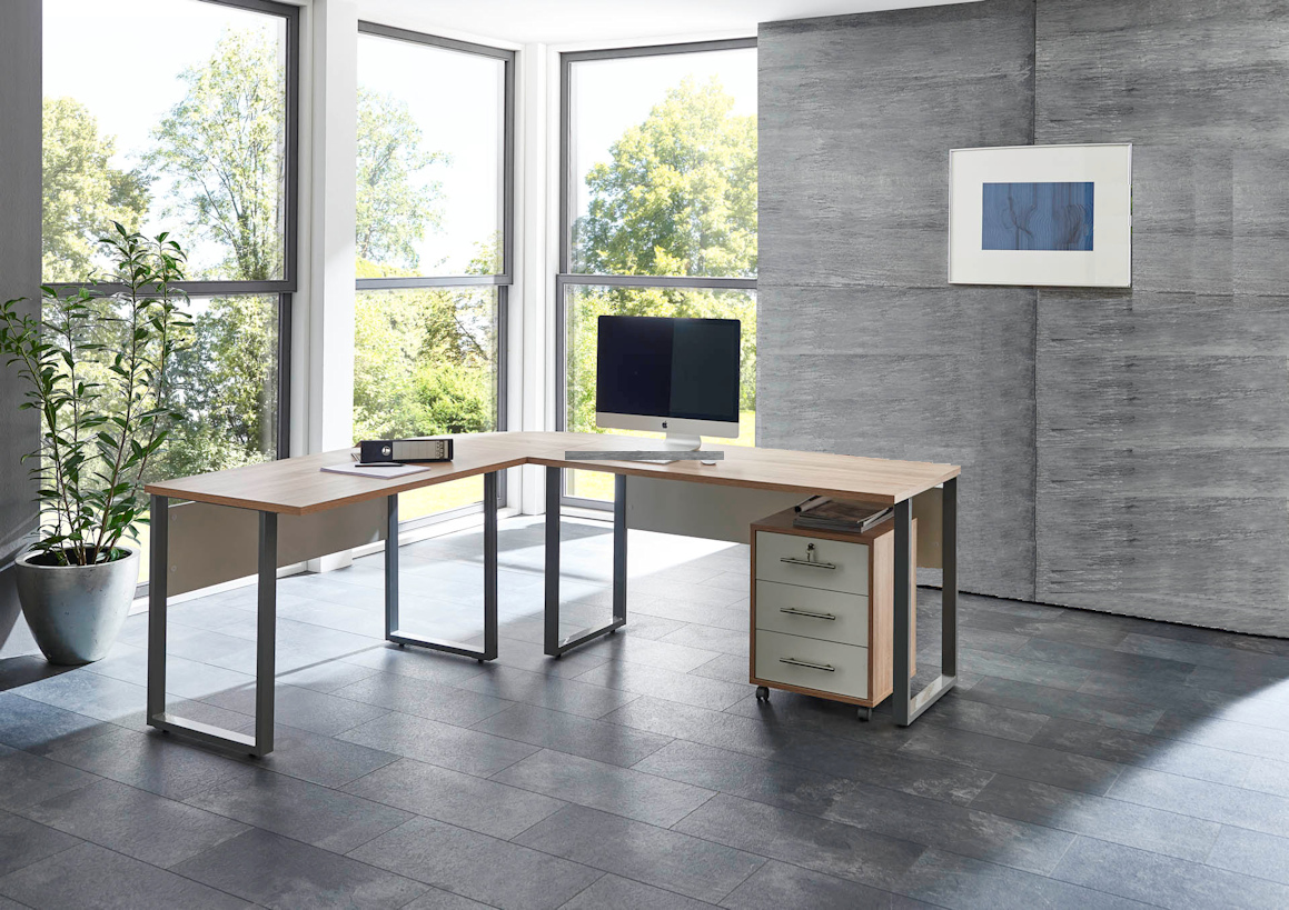arbeitszimmer b ro office edition in sandeiche wei moebel dich. Black Bedroom Furniture Sets. Home Design Ideas
