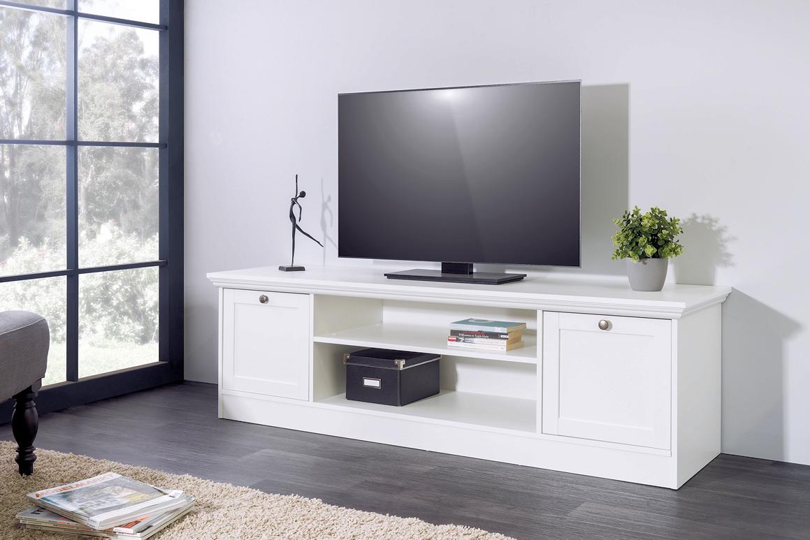 tv element tv board lowboard stockholm landhaus in wei moebel dich. Black Bedroom Furniture Sets. Home Design Ideas