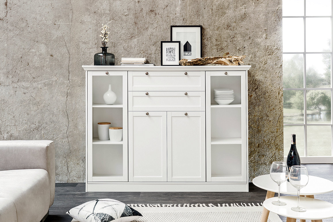 Anrichte Sideboard Kommode Highboard Stockholm Landhaus In