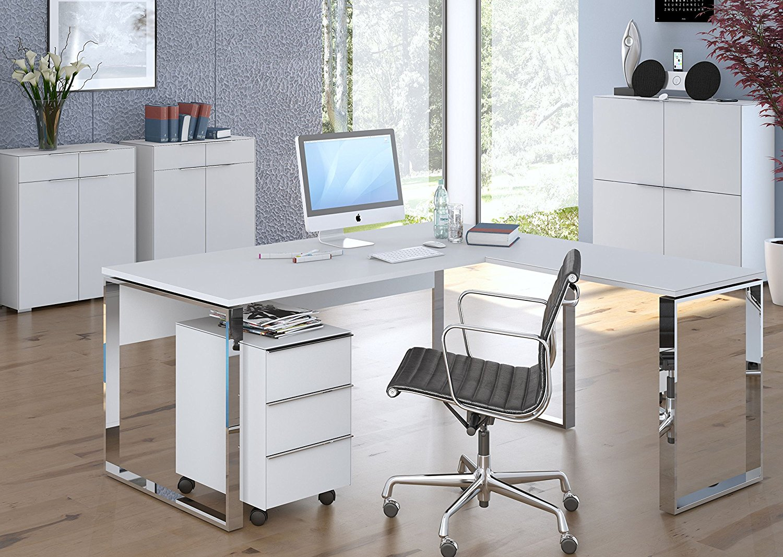 MAJA Büro YAS in Weißglas matt 5-teilig (SET 9)moebel-dich-auf.de