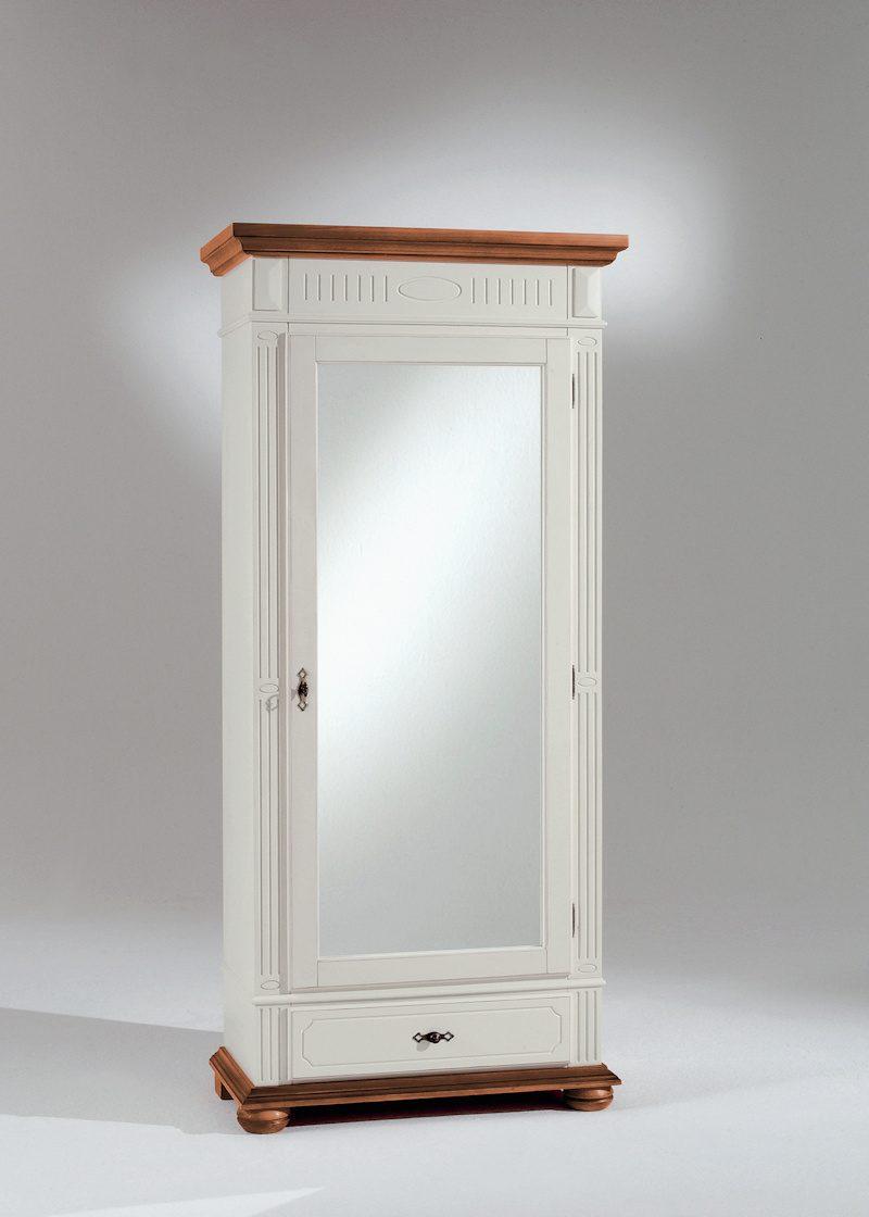 dielenschrank lugano 32866 elfenbeinfarbig lackiert massivholzmoebel dich. Black Bedroom Furniture Sets. Home Design Ideas