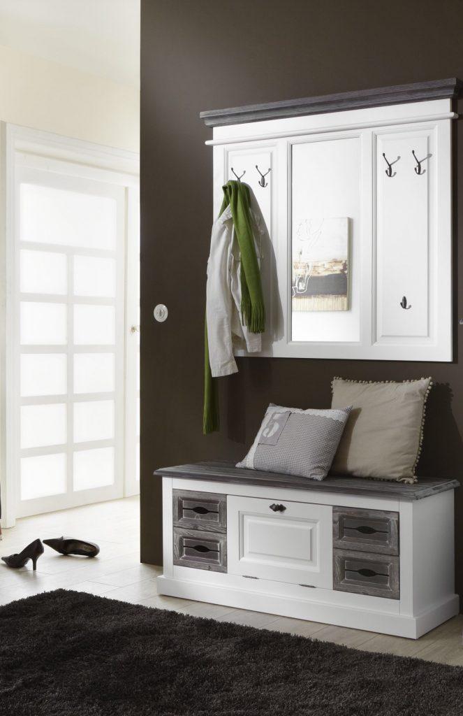 garderobe garderobenset cabana 3 im vintage look teilmassivmoebel dich. Black Bedroom Furniture Sets. Home Design Ideas