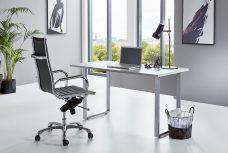 Schreibtisch TABOR in lichtgrau
