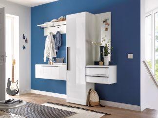 Garderobe NEW VISION in weiß / Hochglanz