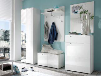 Garderobenset SPICE in weiß Hochglanz