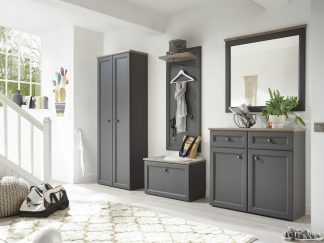 Garderobe TOSKANA in grau / Timber Wood