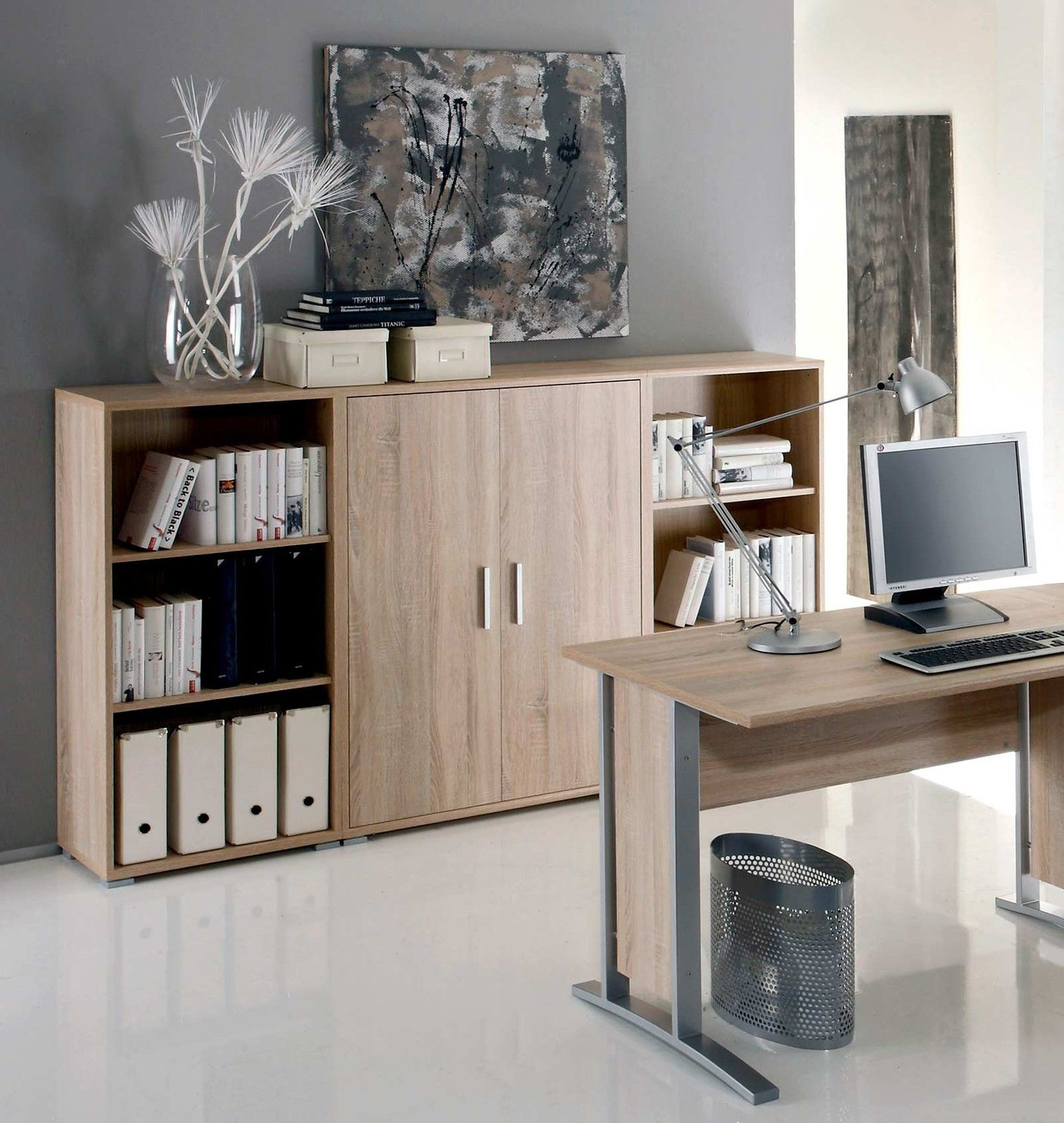 highboard office line in eiche sonoma. Black Bedroom Furniture Sets. Home Design Ideas