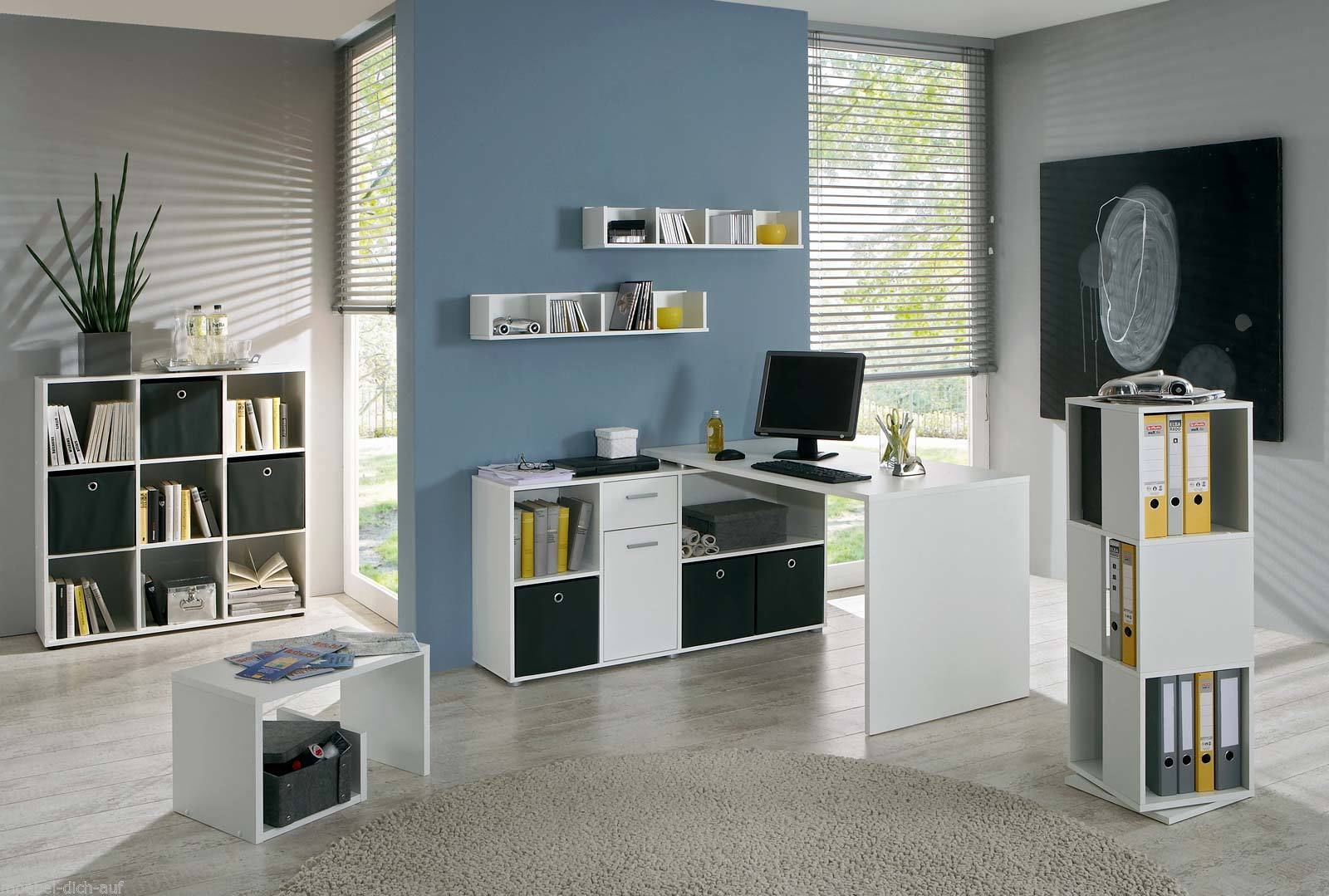 arbeitszimmer minioffice lexus 7 tlg in wei. Black Bedroom Furniture Sets. Home Design Ideas