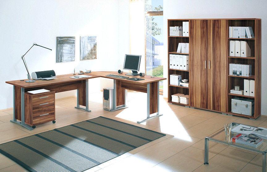 7-tlg. Arbeitszimmer OFFICE LINE in Walnussmoebel-dich-auf.de