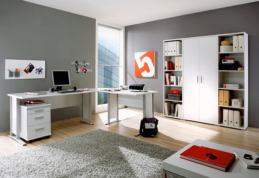 arbeitszimmer office line b ro b rom bel schreibtisch wei moebel dich. Black Bedroom Furniture Sets. Home Design Ideas