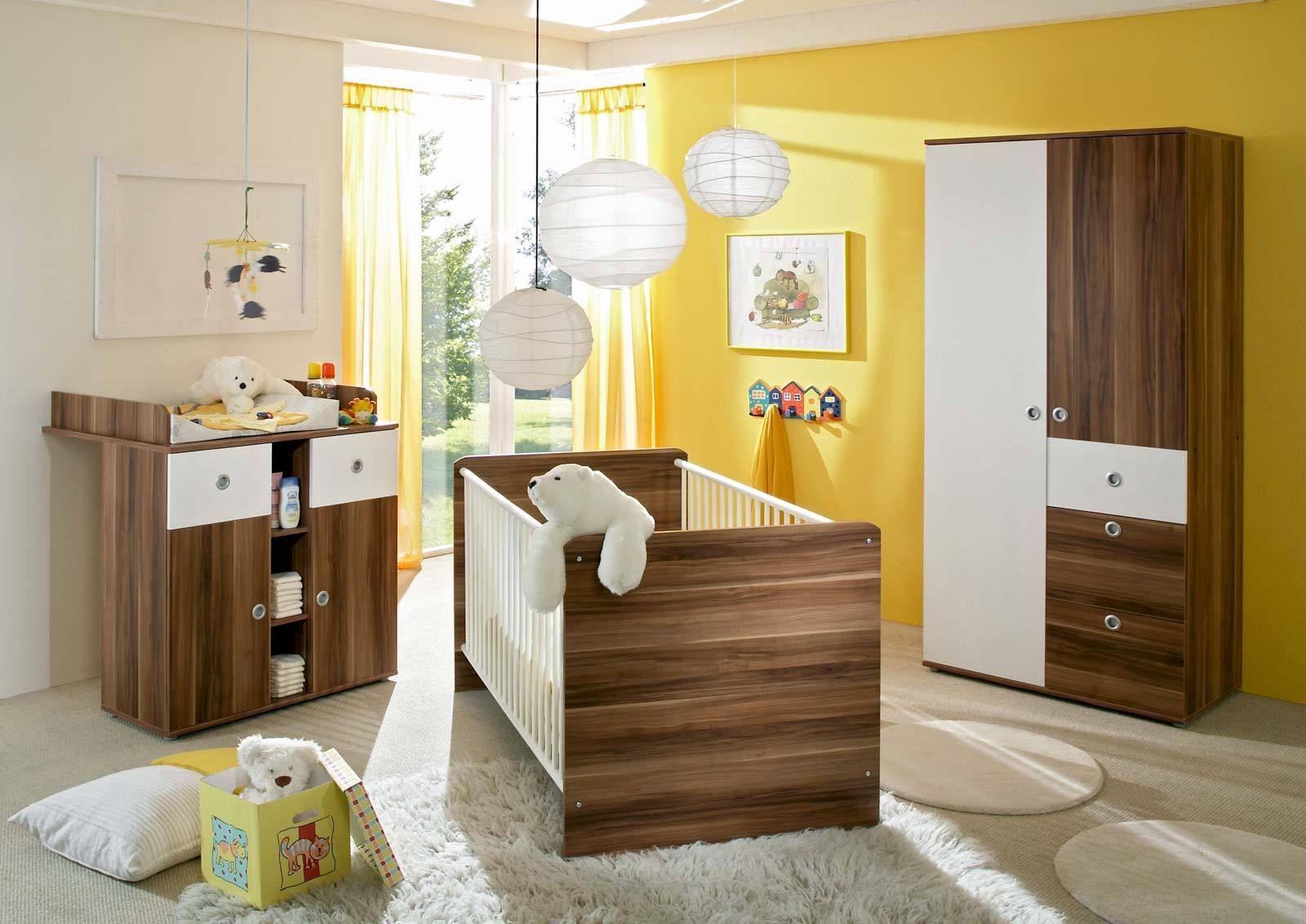 kinderzimmer babyzimmer wiki 1 in walnuss wei. Black Bedroom Furniture Sets. Home Design Ideas