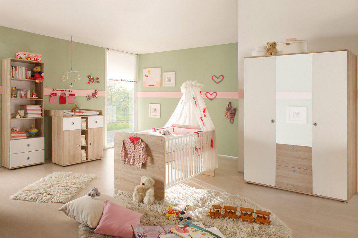 babyzimmer kinderzimmer wiki 2 in eiche sonoma. Black Bedroom Furniture Sets. Home Design Ideas