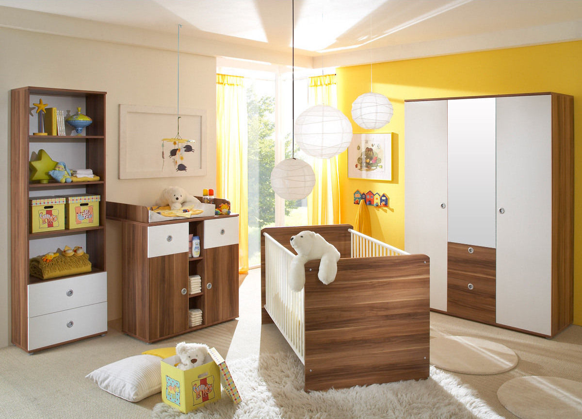 kinderzimmer babyzimmer wiki 2 in walnuss wei. Black Bedroom Furniture Sets. Home Design Ideas