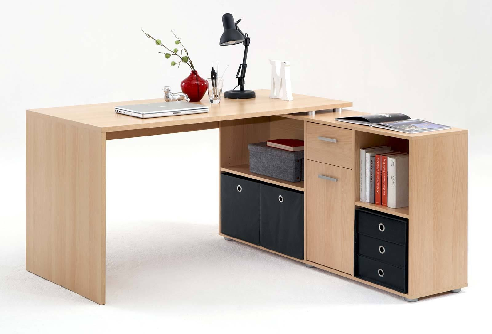 winkelschreibtisch computertisch schreibtisch lex in buche. Black Bedroom Furniture Sets. Home Design Ideas
