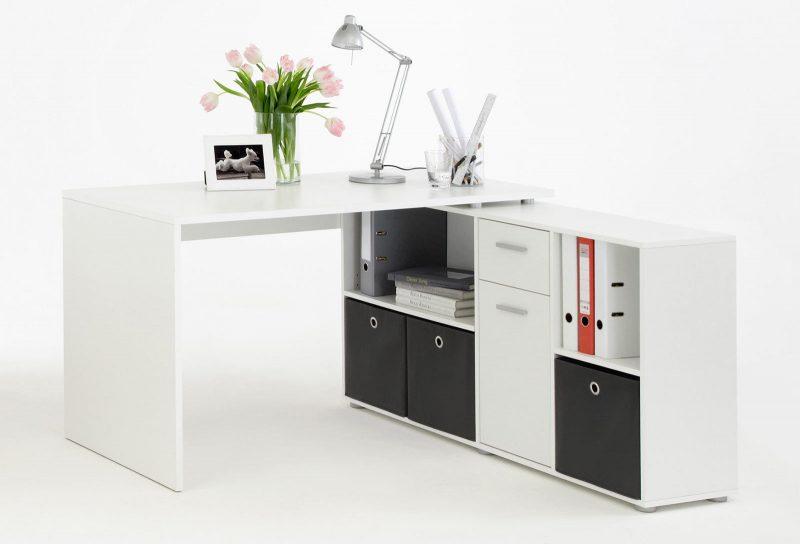 Schreibtischkombination LEX in weiß