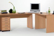 Schreibtisch Till mit Rollcontainer in Buche Nb.