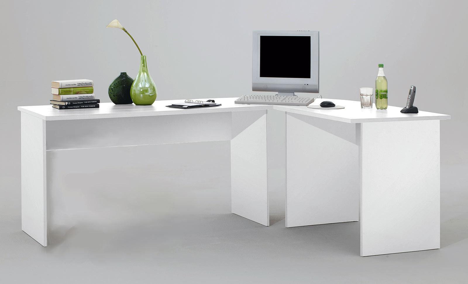 tisch schreibtisch winkelschreibtisch till in weiss. Black Bedroom Furniture Sets. Home Design Ideas